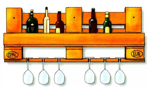 Weinregal aus Paletten